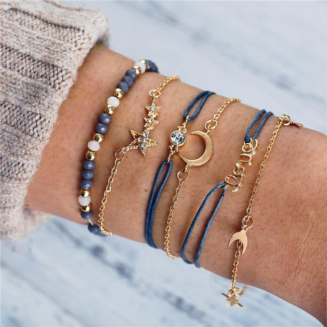 3 Styles Mix Turtle Heart Pearl Wave LOVE Crystal Marble Charm Bracelets for Women Boho Tassel Bracelet Jewelry Wholesale