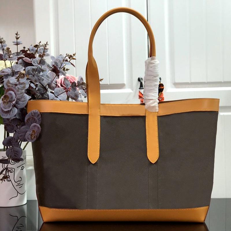 M44657 Кожаная подлинная с высокой сумкой Messenger сумочка косметика качества покупок крутящиеся сумки карманы TOTES THEPET