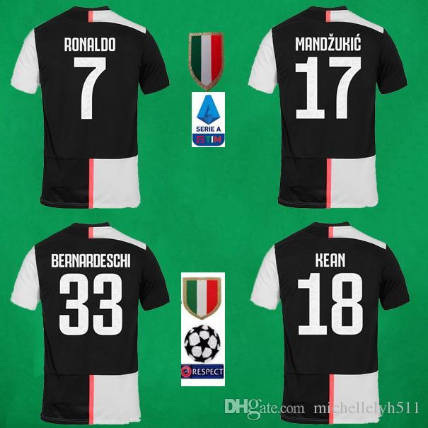 Clothing Cristiano Ronaldo 7 Juventus 2019 2020 Home Mens Soccer Jersey Sports Outdoors Fan Shop