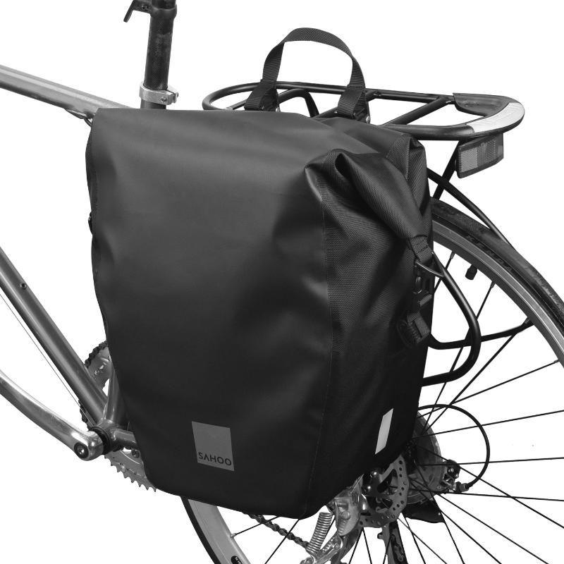 Road Bike Saddle Bag Waterproof Cycling Tail Bag Mountain Rear Rack Pannier Pack