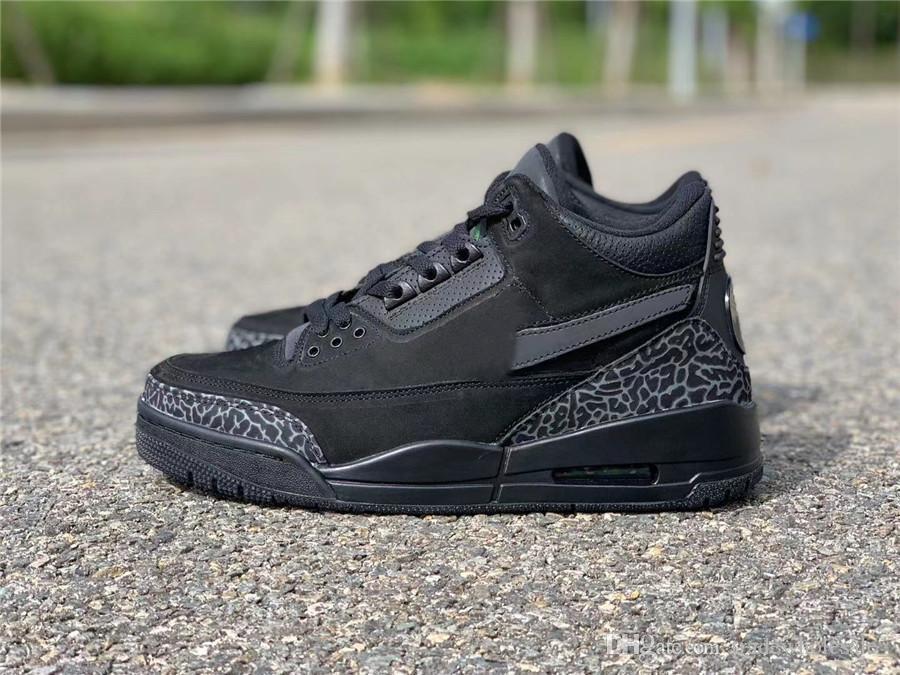 Yeni Erkekler 3S Basketbol Ayakkabı 3 3M Siyah Tasarımcı Lüks Eğitmenler Spor Ayakkabıları Spor Üst Kalite Sneakers ile Kutusu