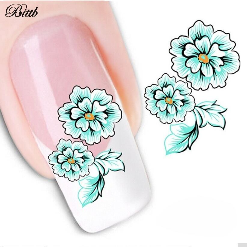 50PCS/Lot for Nail Salons Spa Daisy Flower Nail Art Sticker Decal Foil Water Transfer Gel Nail Design Decorations Beauty Tools