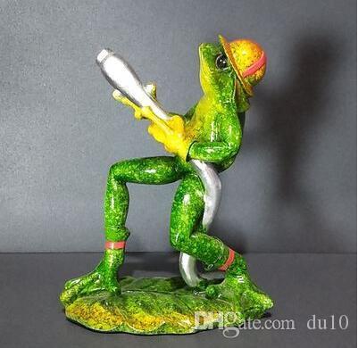 Raganelle in resina di arrampicata moderna Frog scultura di animali creativi individuali resina artigianato camera decorazione del vino Artigianato domestico