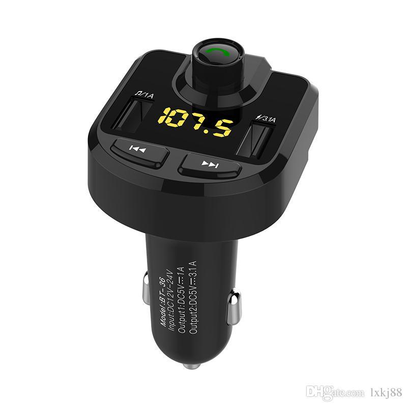 Manos libres Bluetooth para coche Reproductor de MP3 / teléfono a Radio FM Transmisor BT36
