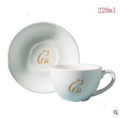 2019 COFFE MUG Solid color matt ceramic coffee cup and saucer set cafe cappuccino flower hanging ear concentrate cup