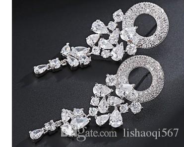 멋진 925 실버 더 많은 컬러 다이아몬드 크리스탈 여성의 earigns (28.26hjg