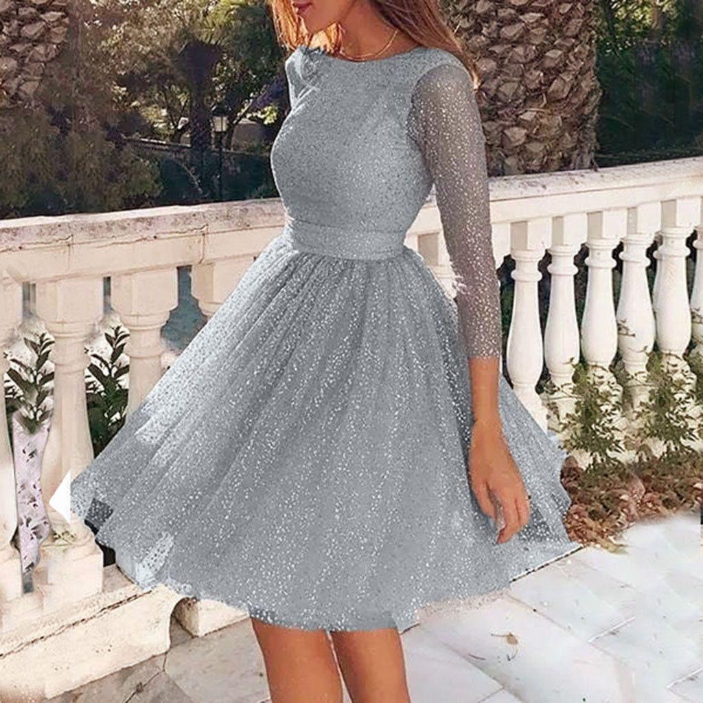 Mulheres bordado malha vestido de tule Magro Princesa elegante dama de honra Moda Wedding A-linha do Partido Feminino Vestidos # xm4