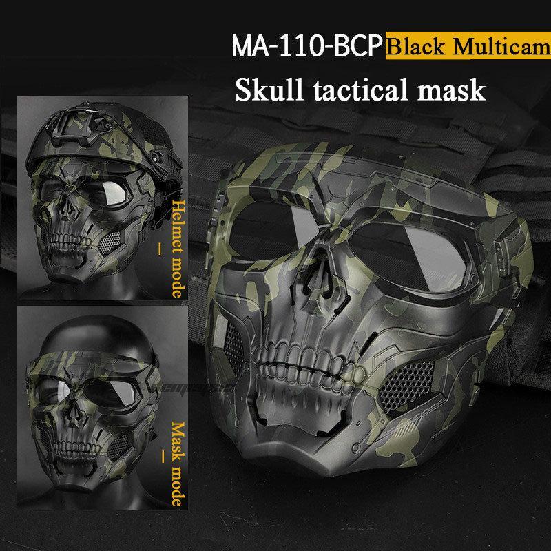 Airsoft Paintball Kafatası Taktik Maske Doğa Sporları Motosiklet Sürüş Erkekler Ve Kadınlar CS K Maske Av BB Gun ok ve yay çekim Maskesi