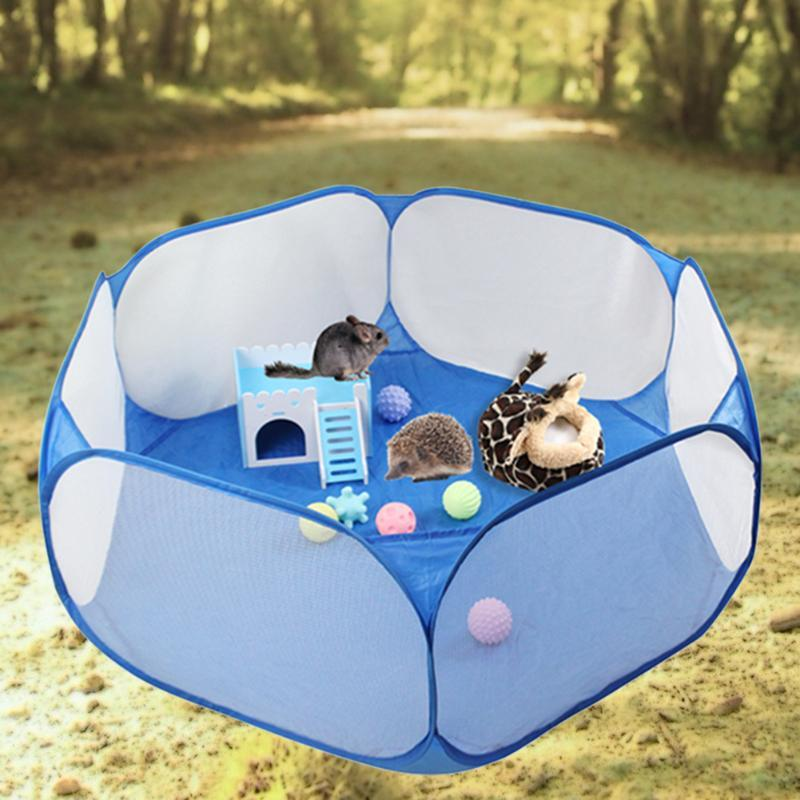 Pet Fence Game Safe Playpen Animal Portable Foldable Lightweight Hot Selling Creative Cage for Hamster Guinea Pig