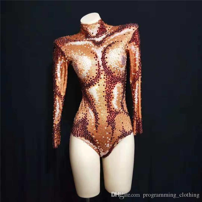 E46 Cantor usa bodysuit dj sexy vestido de macacão feminino partido mostram modelos vestir gogo roupas bar desempenho desgaste biquíni dança trajes KTV