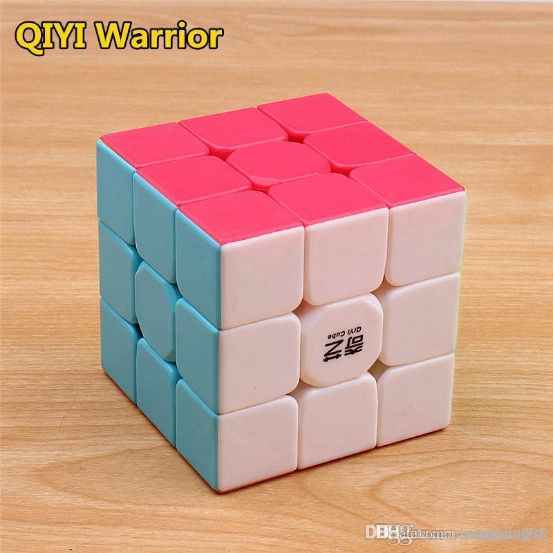 Stickerless Speed cube Puzzle Warrior W 3x3x3 Stickerless Magic cube Toeduk