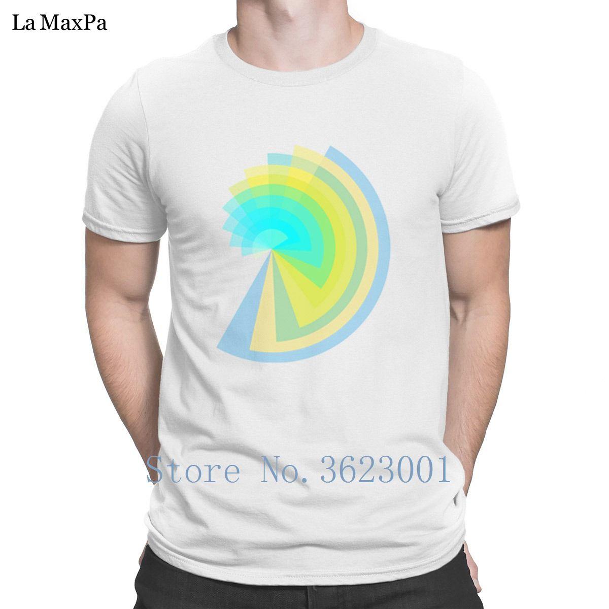 Las camisetas de los hombres de Kawaii vibrante Espiral camiseta Pop Top del manga corta camiseta color sólido de los hombres populares de marca