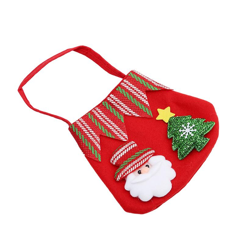 1Pc Christmas Candy Bags Holder Pockets New Cute Christmas Gif Bags Xmas Home Decoration Ornament Supplies Hot Sale Handbag Gift