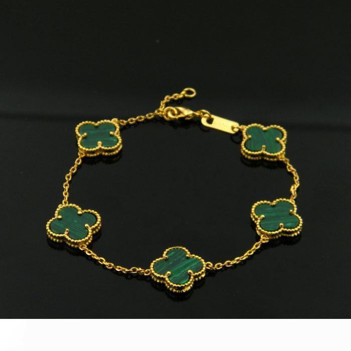 Hot sale high quality fashion brand 18K gold titanium steel bracelet colorful leaf bracelet suitable for couple gift