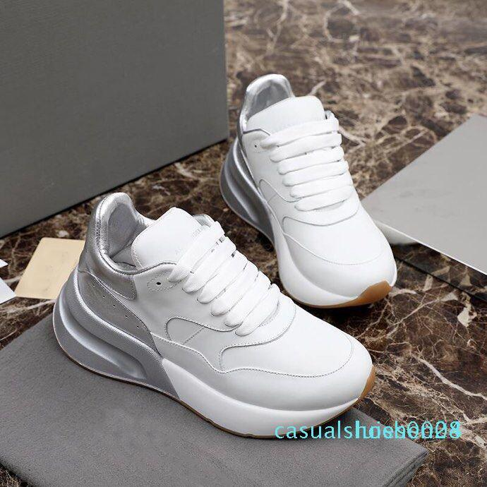 Luxo Mulheres sapatos masculinos de couro da sapatilha Plataforma sapatos enormes Runner Tripler Designer Outdoor Sneaker Low Top Alpercatas dourado branco L28