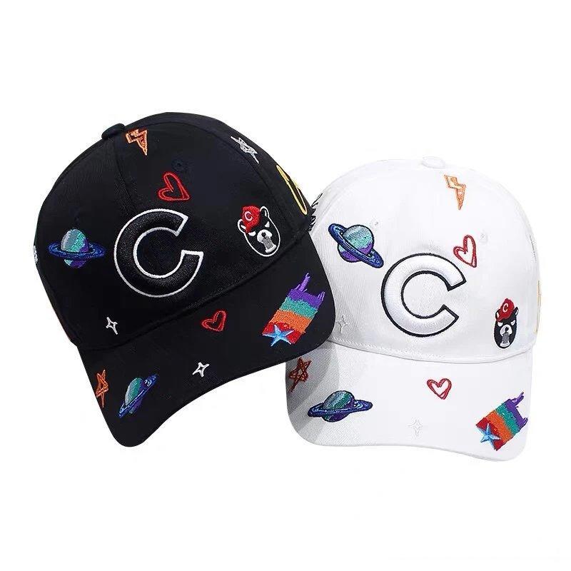 Мода женщины людей конструктора Колпачки Известной Бейсболка Марка MMLLBB Шляпа Черного Белый Цвет опционного Beanie Casquette высоко качество