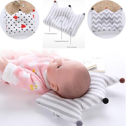 새로운 유아 아기 유아 신생아 수면 포지셔너지지 베개 쿠션 플랫 헤드 베개 - 20 방지