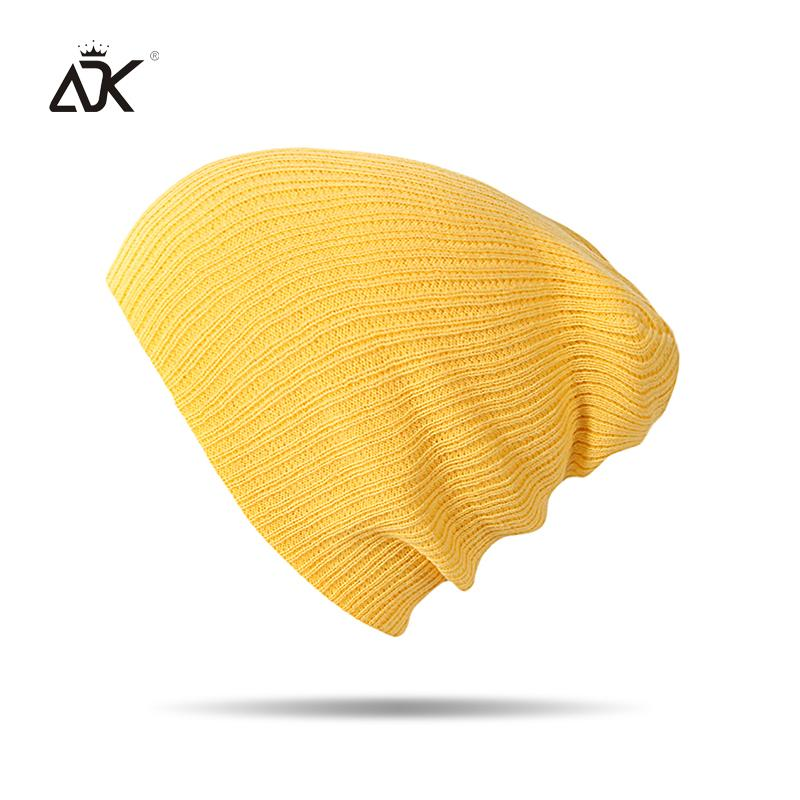 Autumn Winter Beanie Men Women Hats Beanies Solid Color 2018 Warm Stocking Hat For Ladies Striped Knitted Hat Y18110503