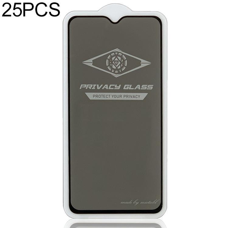 25 PCS MIETUBL Para Vivo Y93 Anti-reflexo tela cheia de vidro temperado Film