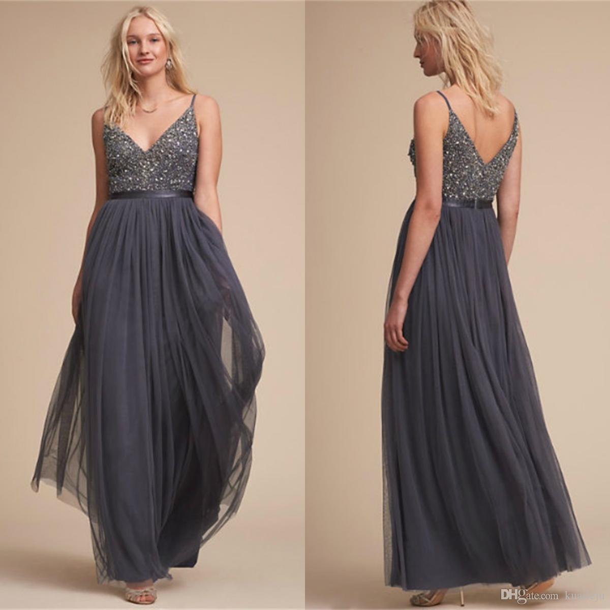 2020 Sexy Mother Dresses V Neck Spagetti Strap Mother Of The Bride Dress Length Lantins Formal Dress