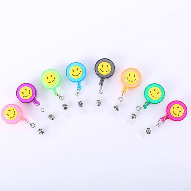 Стимулирование продаж улыбка легко кнопка тянуть падение клей строп зажим крышка ключ тега расширение цепи пряжка сертификат грудь карта клип customizat