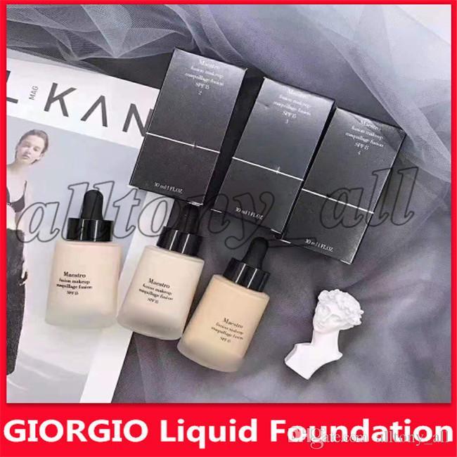 2019 Hot Marque GIORGIO Fond de teint liquide maquillage fusion Maestro fusion SPF15 30ml maquillage 3 couleurs avec DHL Livraison gratuite
