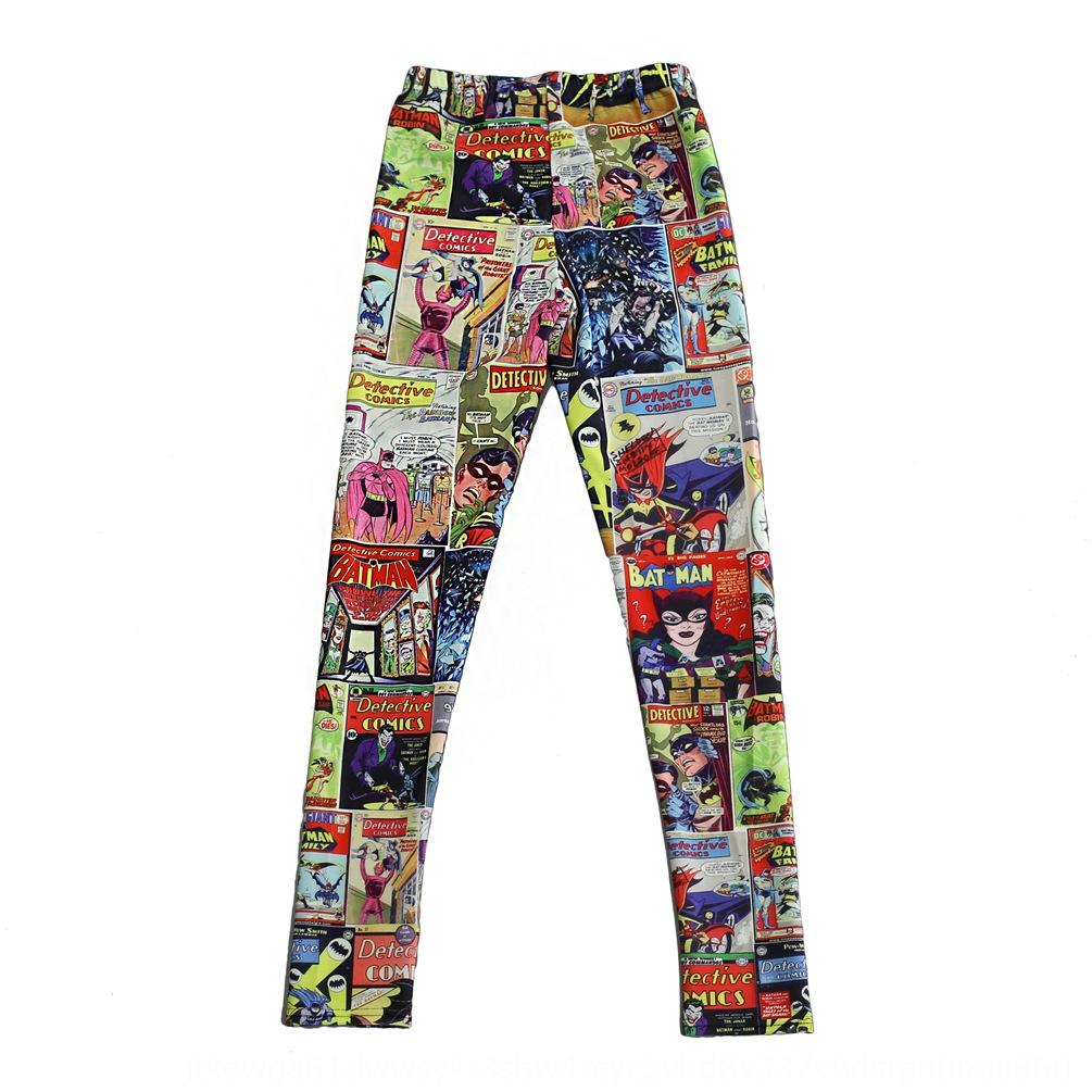 x77jO tight and Spring New Star Digital tight pants Digital Autumn pants printed Fox and dog Slim Leggings Lgs3144