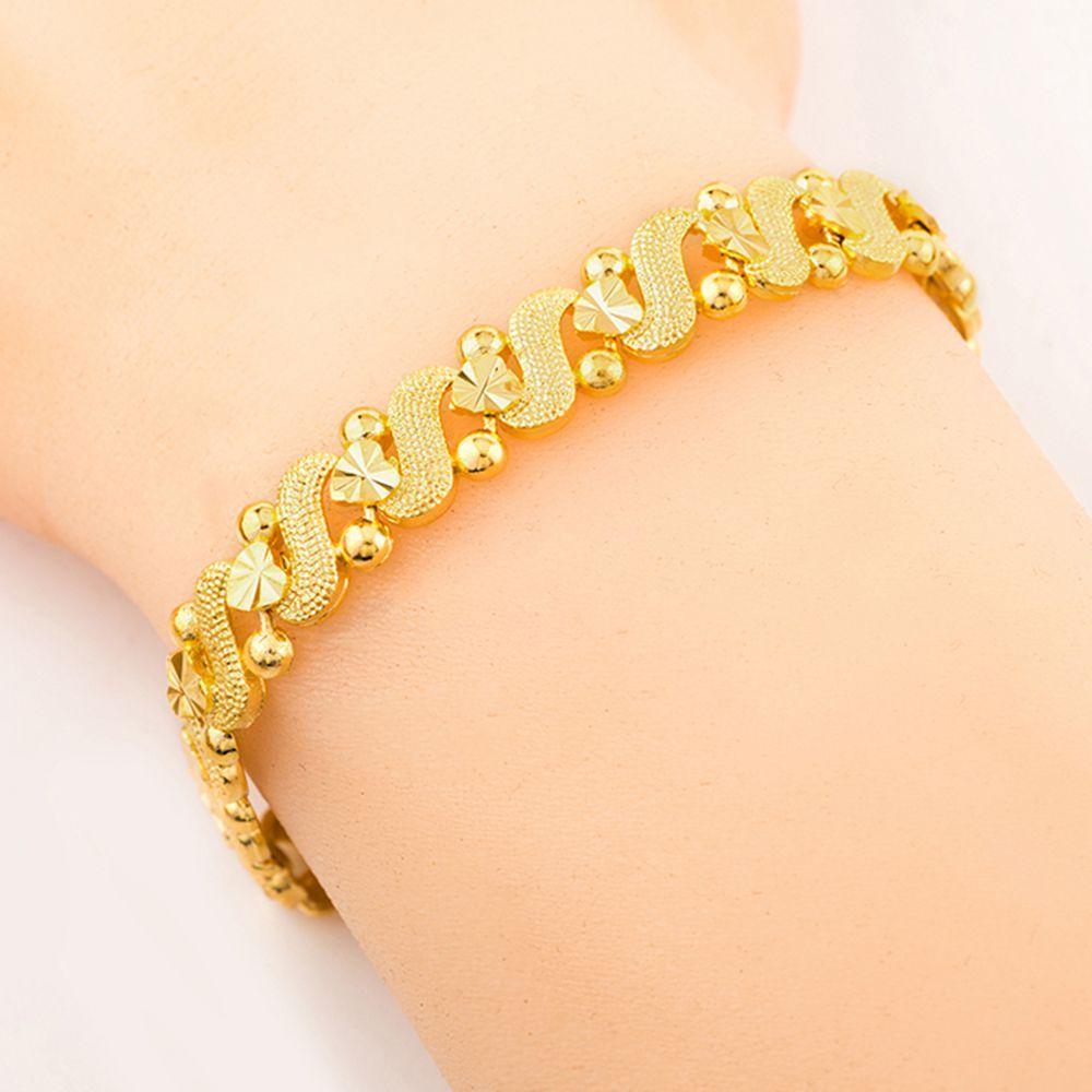 Womens romantici all'ingrosso del braccialetto Chain del cuore oro giallo 18k riempito di modo grazioso Womens regalo polso link