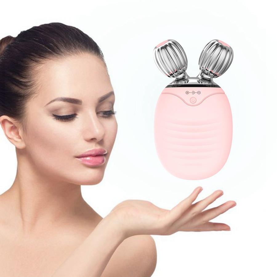 سيليكون الوجه المطهر البسيطة الرول الوجه bruh الكهربائية التطهير فرشاة v شكل الوجه الاهتزاز مدلك الوجه الأسطوانة تدليك RRA1074