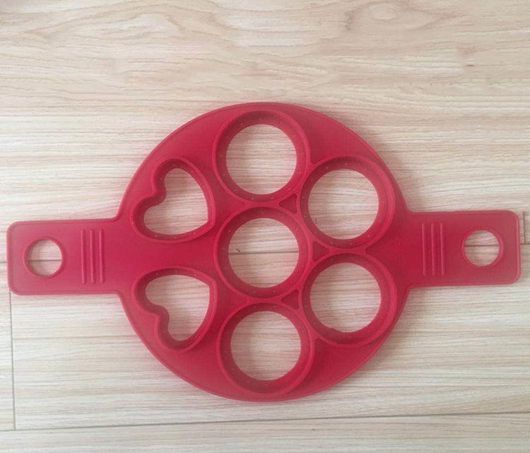Mold nuovo aggiornamento Pancake stampi in silicone riutilizzabile non Egg Stick Anello Pancake Maker (7 Circles)