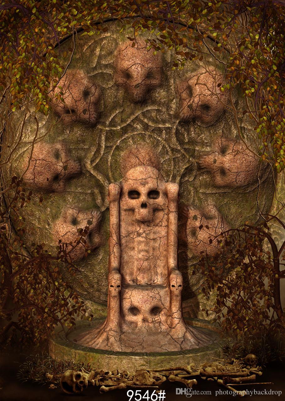 Vinilo personalizado Fotografía Telones de fondo Prop digital impreso Vertical día de Halloween Photo Studio Background JLT-9546