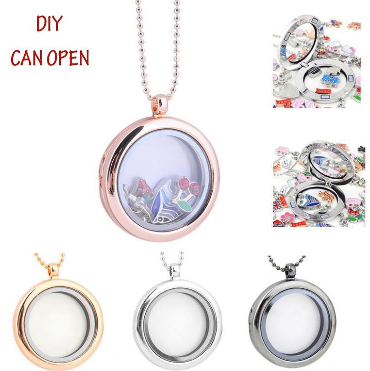 DIY acessórios liga de caixa da foto pingente explosivo redonda de vidro pode abrir colar de jóias mulheres Frete grátis pendant