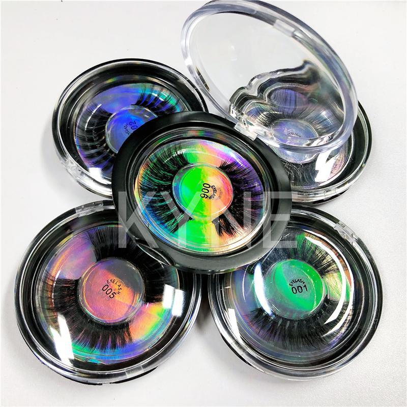 Navio rápido! 28 Styles selecionável 3D Faux Mink cílios 3D seda Lashes Proteína 100% Crueldade Lashes grátis Eye