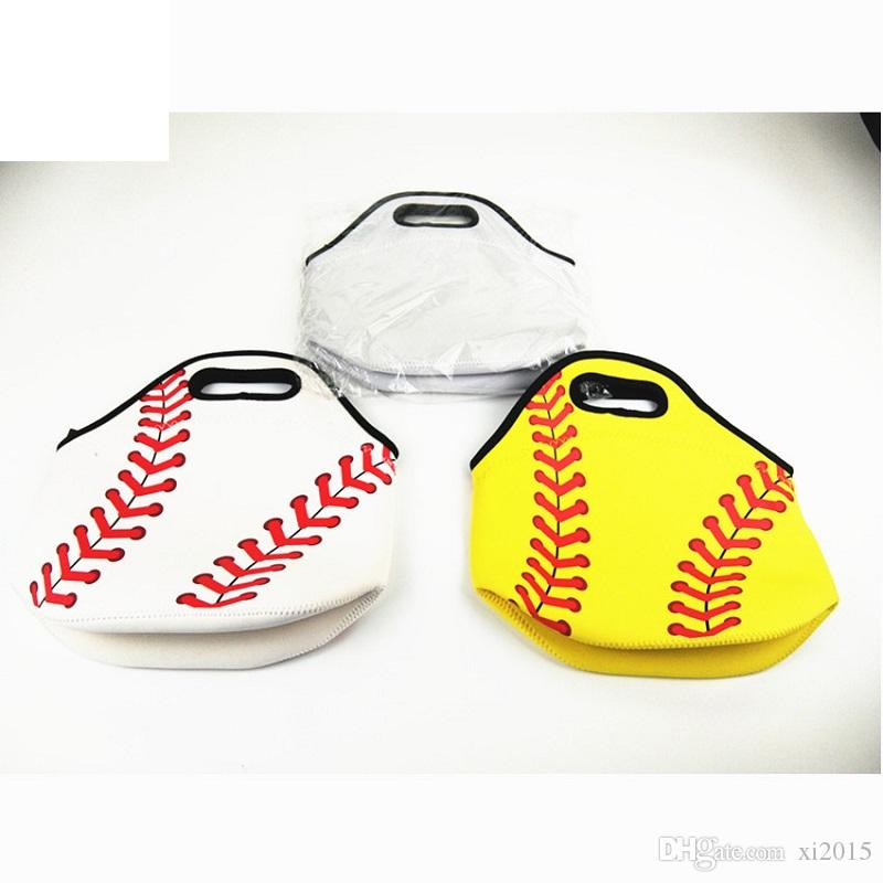 Free shipping new arrival neoprene baseball lunch bag monogrammed personalized insulated cooler bags picnic bags W8894