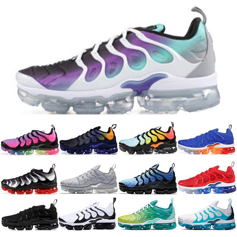 Продажа 2020 Новые оригинальные Tn Плюс обувь Фиолетовый Модельер Мужские кроссовки ТНС дышащей сетки воздуха Chaussures Maxes Спортивные тренажеры Чистка NIK