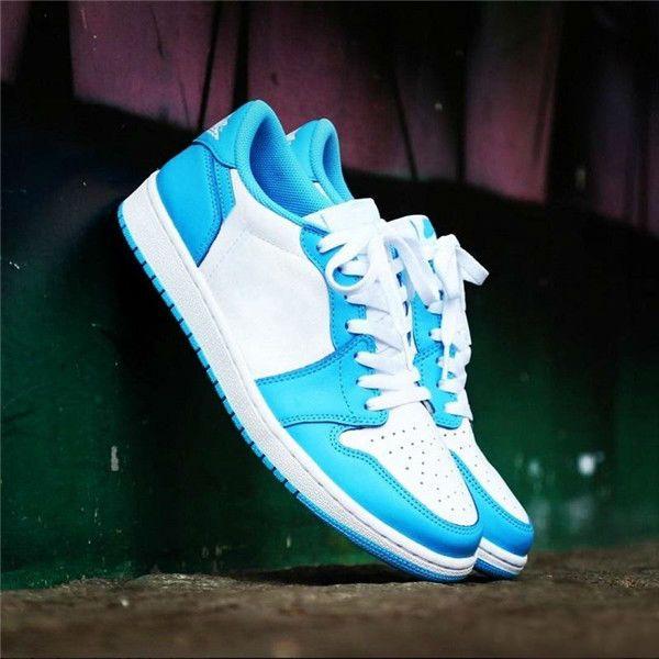 2019 With Box Brand SB OG 1 Low UNC Dark Powder Blue White Running Shoes Men Women Sports Sneakers