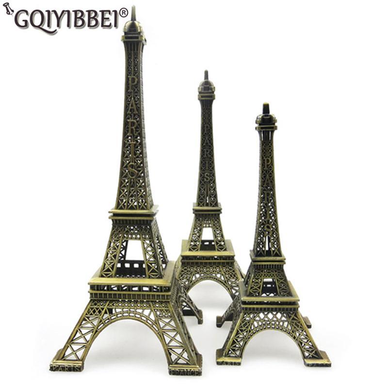 62 سنتيمتر فن الحرف البرونزية باريس برج ايفل نموذج الحلي تمثال سبائك الزنك تمثال هدايا السفر ديكورات المنزل T190709