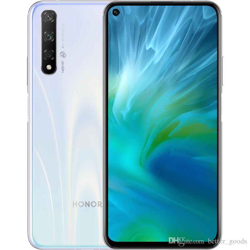 """원래 Huawei 명예 20s 20 S 4G LTE 휴대 전화 6GB RAM 128GB ROM Kirin 810 Octa Core Android 6.26 """"전체 화면 48.0MP AI 지문 ID 3750mAh 스마트 휴대 전화"""