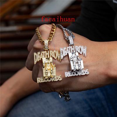 New Hip Hop Lettre Trendy design collier pendentif classique Or Argent Zircon Pendentif Hip-hop à la mode sauvage style Accessoires