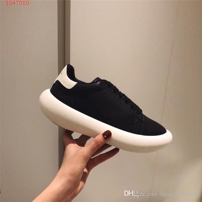 Autumn and winter female recreational board shoe low - top lace-up to move small white shoe with thick bottom