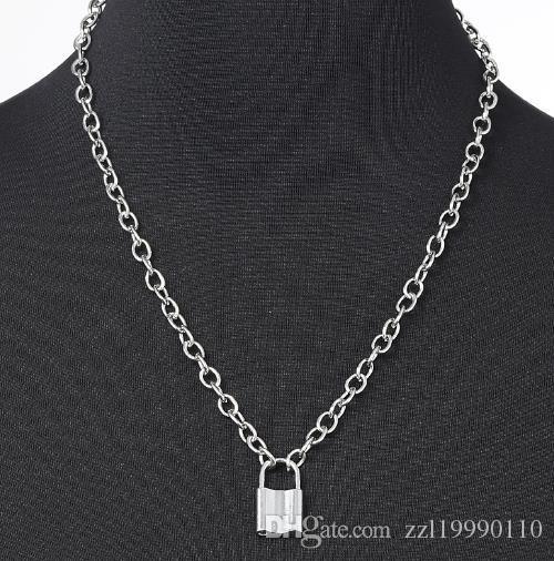 tempérament de bijoux de style européen et américain, personnalité, pendentif géométrique, colliers, serrure simple, polyvalent alliage collier, femme