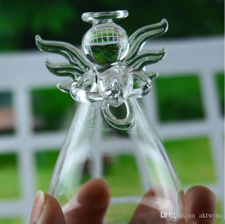 Attaccatura di vetro Bottiglia Vaso Chiaro Angelo terrario idroponica Container Vaso da fiori fai da te Casa Garden Decor 5cm * 9 centimetri LXL1187-1