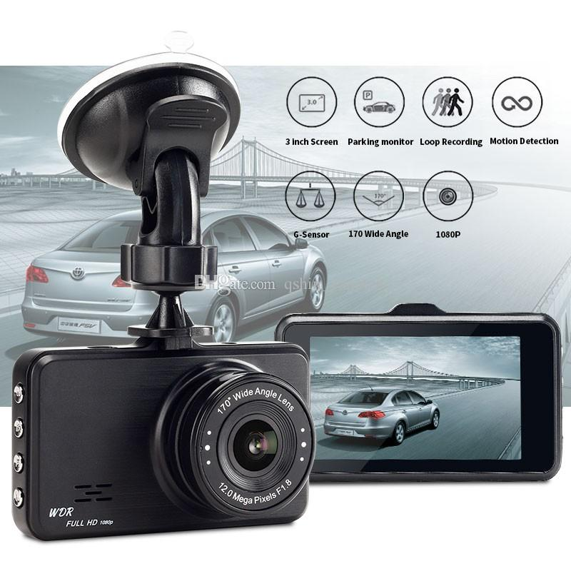 """3"""" car DVR recorder vehicle video camera auto registrator 1080 full HD dual lens double recording 170° + 120° wide view angle"""