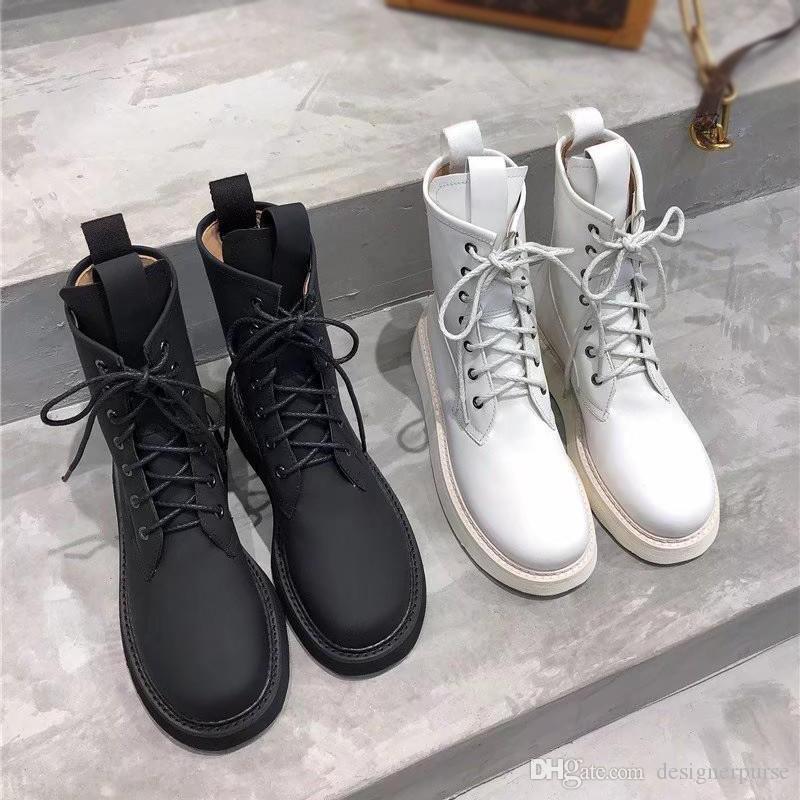 STORM CUIR martin çizmeler chaussures İÇİNDE Moda lüks tasarımcı kadın ayakkabı BOT femmes patik bottillons kadın botları bağlamamda dökmek