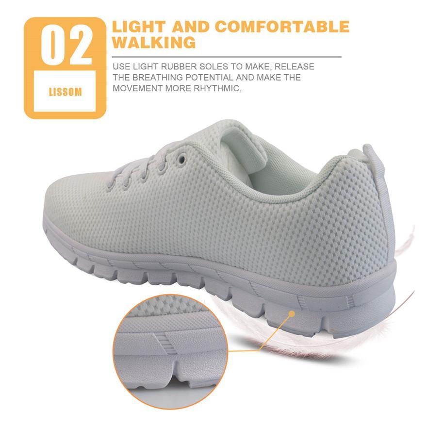 Acheter Blanc Mignon Infirmière Motif Ours Allaitant Chaussures Confortables Casual Mesh Appartements Chaussures Pour Femmes Filles De $64.98 Du