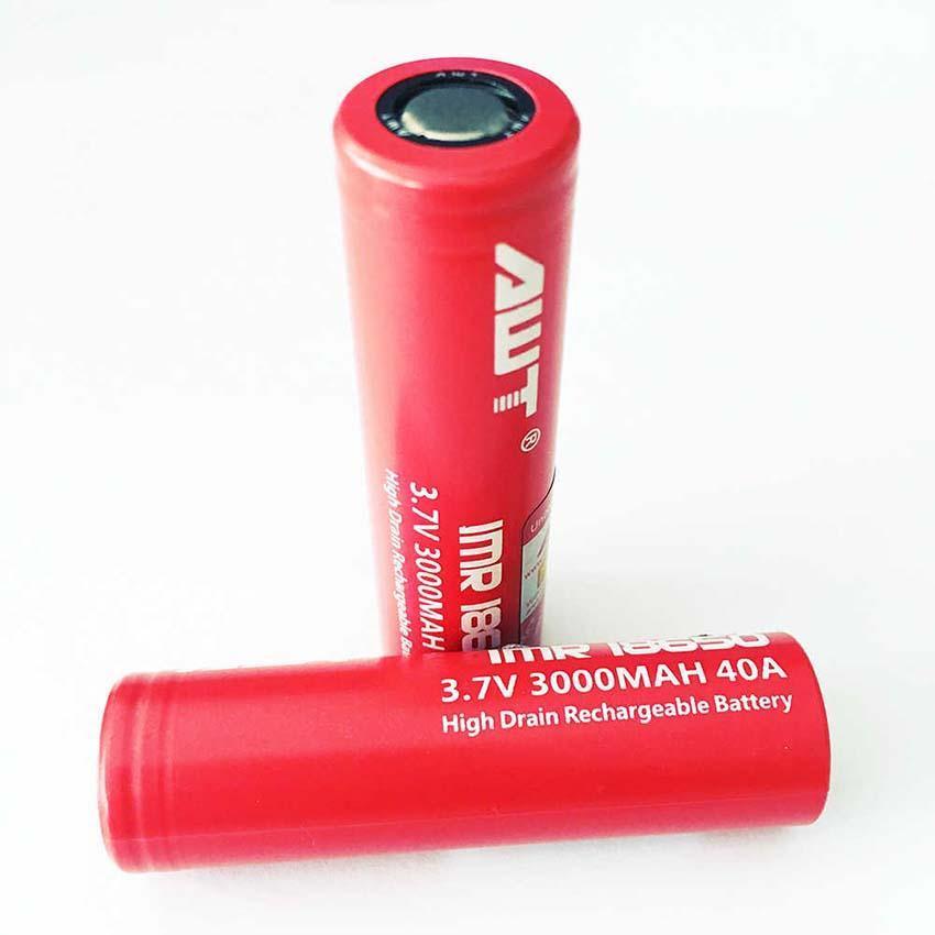 100% AWT original é 18650 18650 bateria bateria 40A 3000mAh 3.7V de iões de lítio para Joyetech Cubóide PRO EVIC Primo HCIGAR VS VTC4 VTC6 bateria W037