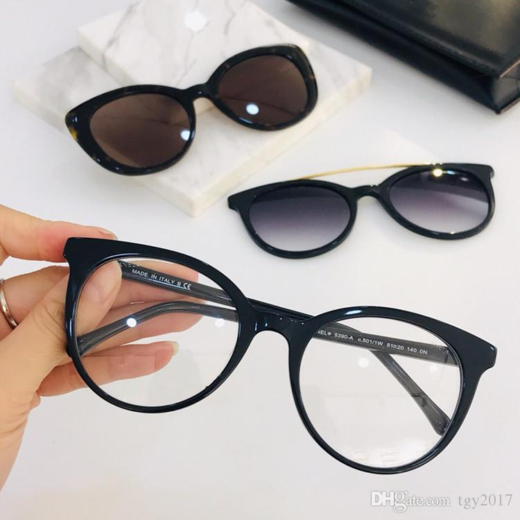 2020 Newest C5390A Concise Women Optical Plank Frame two Magnetic CLIP-ON sunssss UV40051-20-140 for RX-Glasses fullset Exqusite Gif case