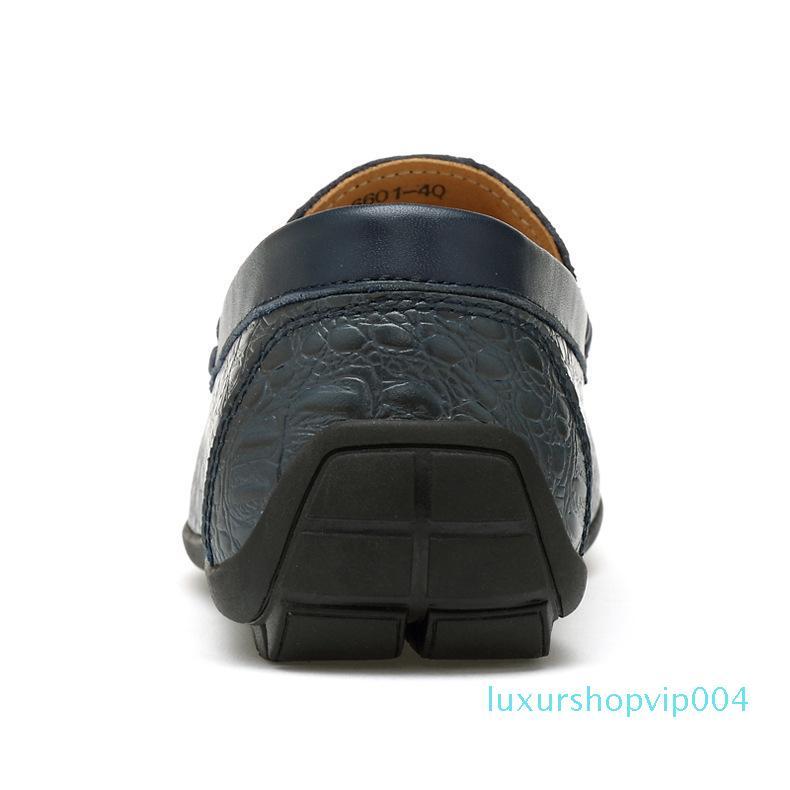 2020 Yeni Yaz Dış Ticaret Deri Büyük Beden Avrupa ve Amerikan Loafers Timsah Deri Ayakkabı Erkek Casual Sürüş Ayakkabı ait Erkek Seti