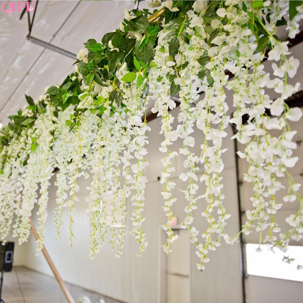 2020 Artificial Silk Wisteria Lower Vines Garland Hanging Plant