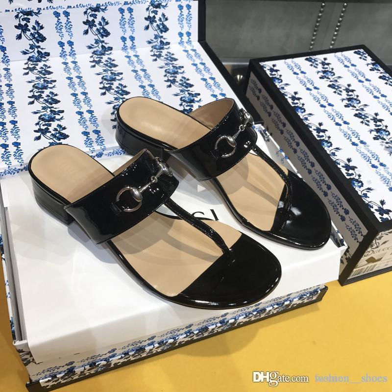 2020 Art und Weise Luxus-Designer-Frauenschuhe Pantoffel Vintage Stardesigner Flipflophefterzufuhren mit Kastengröße 35-40 -305